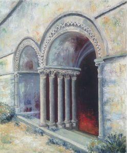 Arcade géminée, abbaye de Beauport Huile sur toile