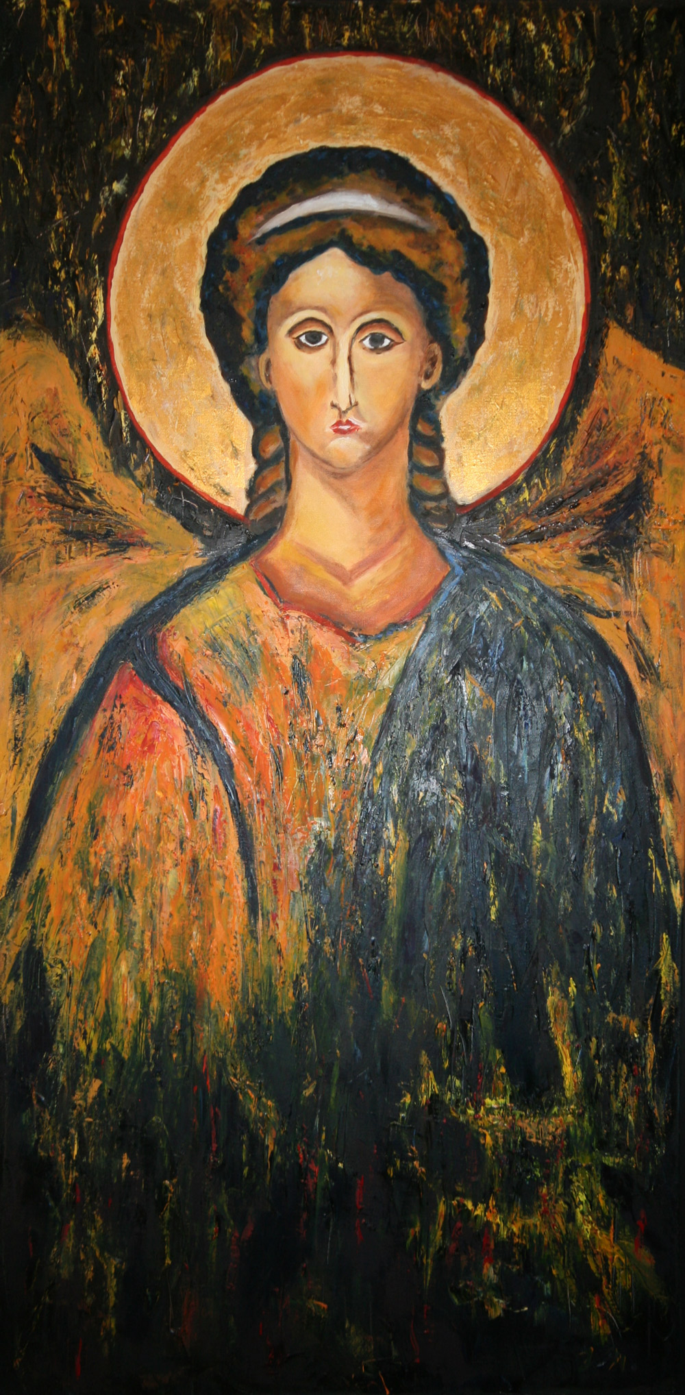 L'Archange Huile sur toile 80x40 cm
