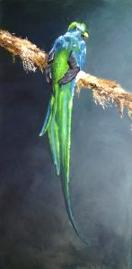 Quetzal Oil on canvas 80x40cm