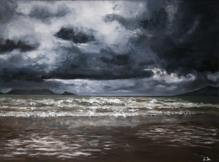 Rayon de soleil, Inch Beach - Huile sur toile  81 x 60 cm