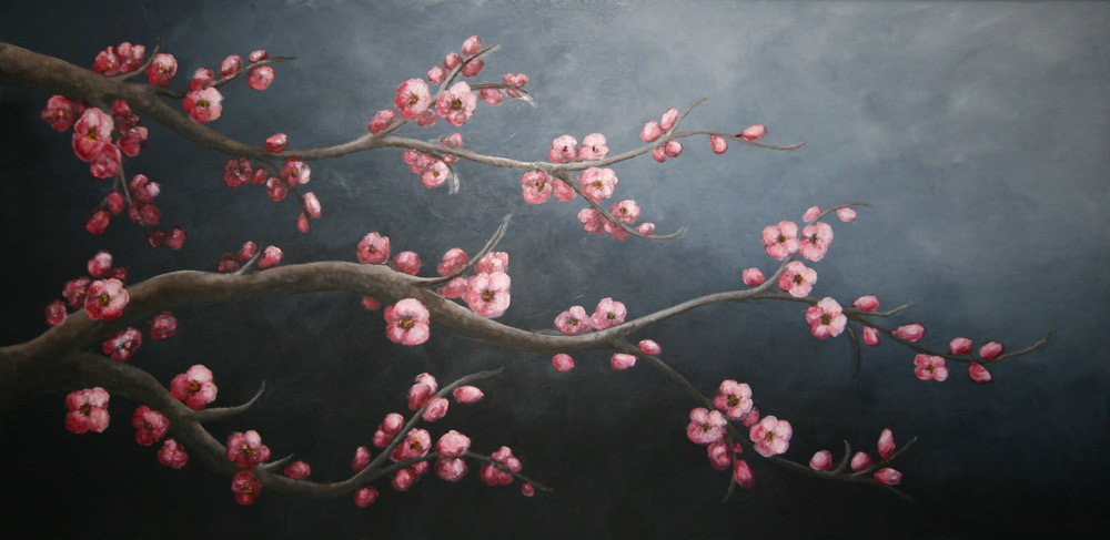 Sakura Oil on canvas 100x50 cm